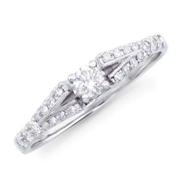 0.337 Cts Certified Diamond 14K Designer Gold Ring MSRP $5,543!