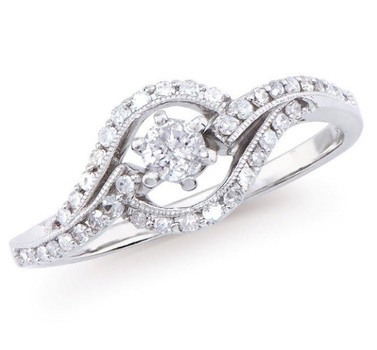Fine Jewelry 0.377 Cts Certified 14K Designer Diamond Gold Ring MSRP $5,202!