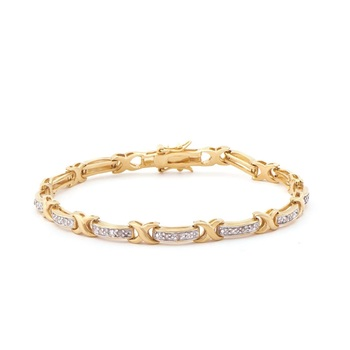 0.28 CT Diamond 18KGP Designer Bracelet