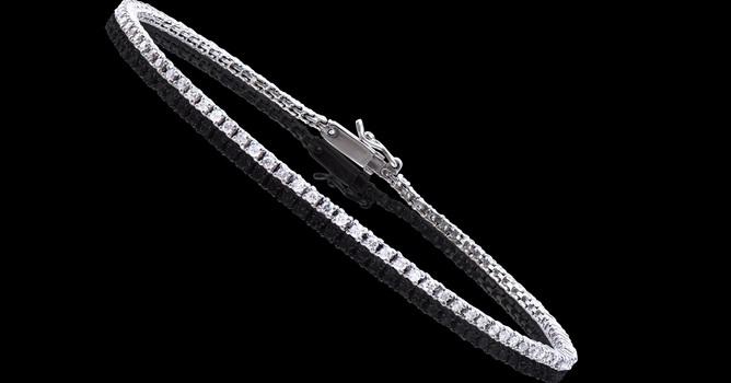 1.18 Cts Diamond 14K Designer Gold Tennis Bracelet
