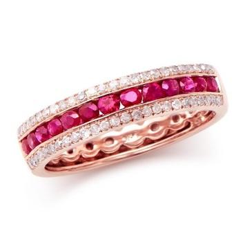 0.78 Cts 4.44 Grams Certified Ruby & Diamond Designer 14K Ring
