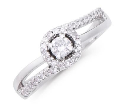 0.33 Cts Certified Diamond 14K Designer Gold Ring