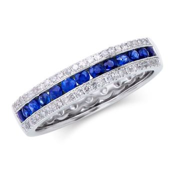 0.81 Cts Certified Blue Sapphire & Diamond Designer Gold Ring MSRP $5,722!