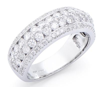 1.45 Cts Certified Diamond 14K Designer Gold Ring