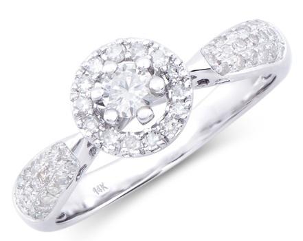 0.64 Cts Certified Diamond 14K Designer Gold Ring