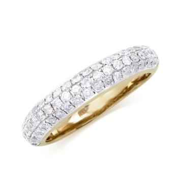0.80 Cts Diamond 14K Designer Gold Ring