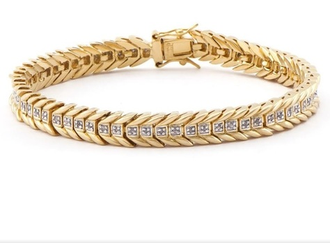 0.23 CT Diamond 18KGP Designer Bracelet