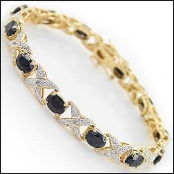 8.89 CT Sapphire & Diamond Designer Bracelet List Price $935!
