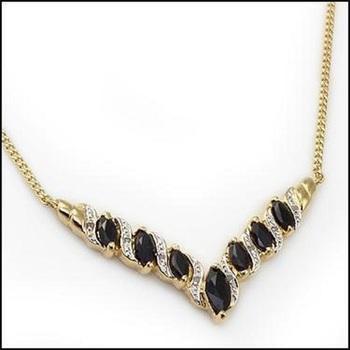 6.92 CT Sapphire & Diamond Designer Necklace