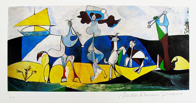 Pablo Picasso JOY OF LIVING Estate Signed Limited Edition Giclee List Price $785