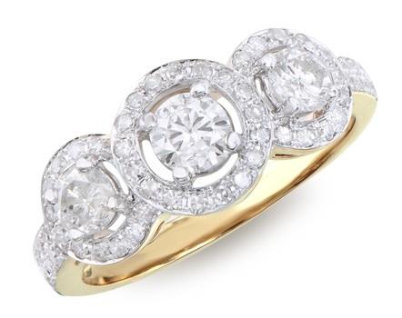 1.29 Cts Certified Diamond 14K Designer Gold Ring $15,850!!!