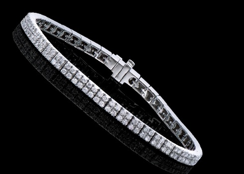 2.34 Cts Diamond 14K Designer Gold Tennis Bracelet