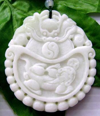 Jade Dragon Tai-Ji And Pi-Xiu Dragon Coin