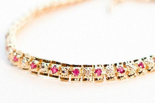 3.18 CT Ruby & Diamond Designer Bracelet