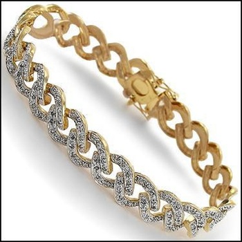0.75 CT Diamond 18KGP Designer Bracelet