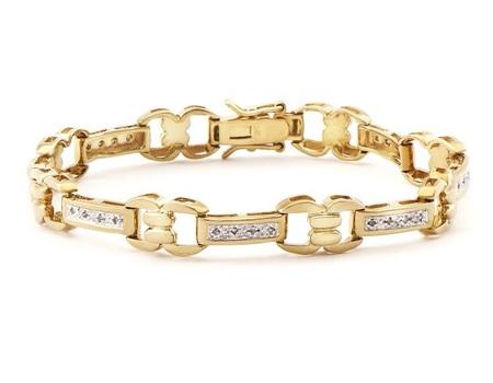 0.21 CT Diamond 18KGP Designer Bracelet