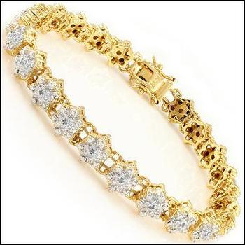 0.38 CT Diamond 18KGP Designer Bracelet