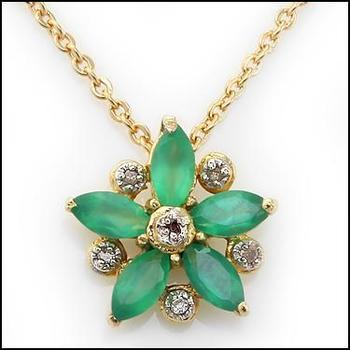 1.10 Cts Green Agate & Diamond Designer Necklace