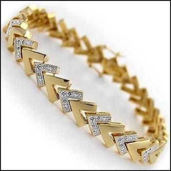0.25 CT Diamond 18KGP Designer Bracelet List Price $1,185!