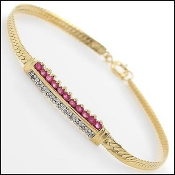 3.29 CT Ruby & Diamond Designer Bracelet