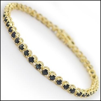 10.12 CT Black Sapphire Designer Bracelet List Price $735!