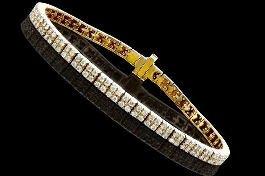 2.34 Cts Diamond 14K Designer Gold Tennis Bracelet