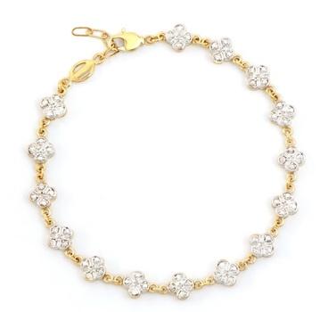 0.11 Cts Diamond 18KGP Designer Bracelet