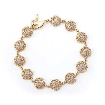 0.16 CT Diamond 18KGP Designer Bracelet
