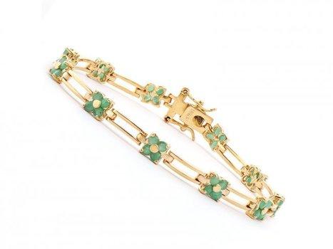3.05 Cts Emerald Designer Bracelet