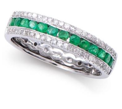 0.69 Cts Certified Emerald & Diamond 14K Designer Ring MSRP $$5,768!