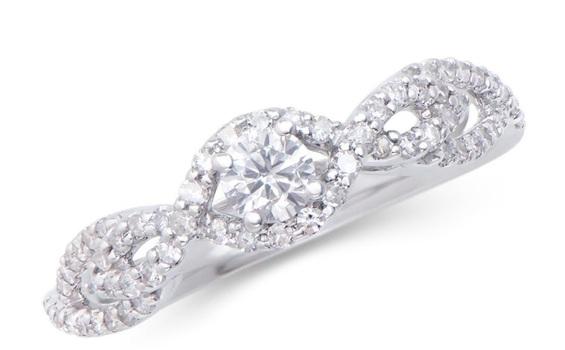 0.52 Cts Certified Diamond 14K Designer Engagement Ring $5,699!