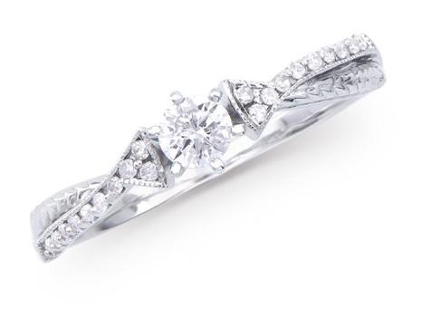 0.326 Cts Certified Diamond 14K Designer Gold Ring