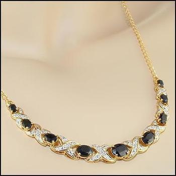 12.19 CT Sapphire & Diamond Designer Necklace MSRP $1,365
