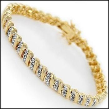 0.92 CT Designer Diamond Bracelet MSRP $1,325!