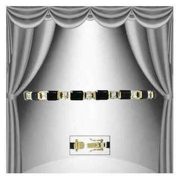11.22 CT Black Onyx & Diamond Designer Bracelet