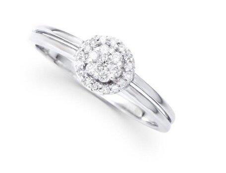 0.23 Cts Certified Diamond 14K Designer Gold Ring