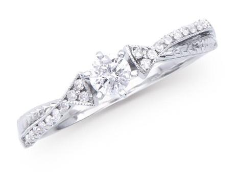 0.32 Cts Certified Diamond 14K Designer Gold Ring