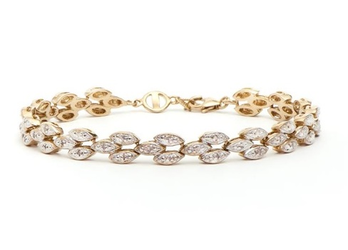 0.33 CT Diamond 18KGP Designer Bracelet
