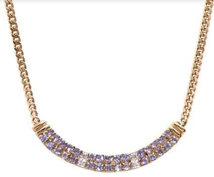 14.89 CT Tanzanite & Diamond Designer Necklace MSRP $1,335