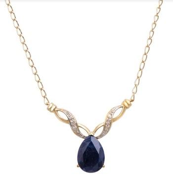 6.89 CT Sapphire & Diamond Designer Necklace
