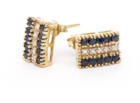 3.87 CT Sapphire & Diamond Designer Earrings