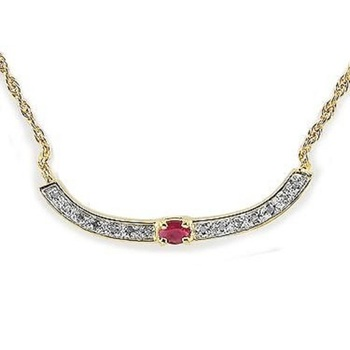 1.37 CT Ruby & Diamond Designer Necklace