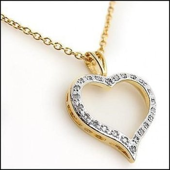 0.18 CT Diamond Heart Designer Necklace