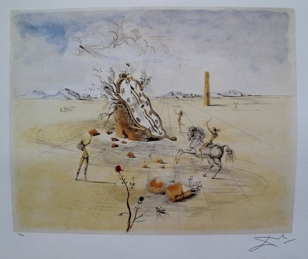 An Image Relevant To This Listing Salvador Dali Cosmic Horseman Limited Edition Lithograph