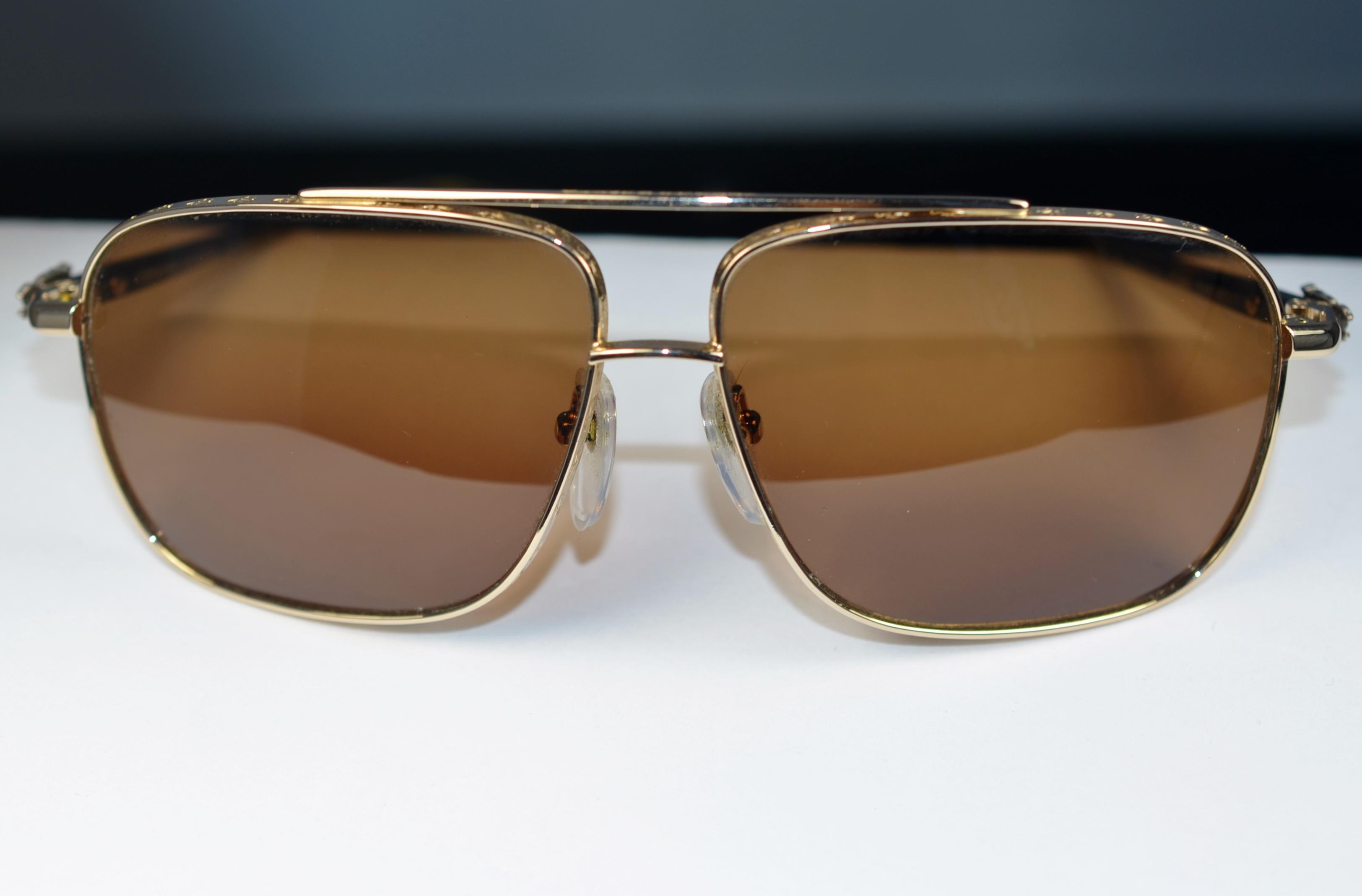 1231989fc222 Chrome Hearts Pork Sword Mens Polarized Sunglasses Frames Made in Japan