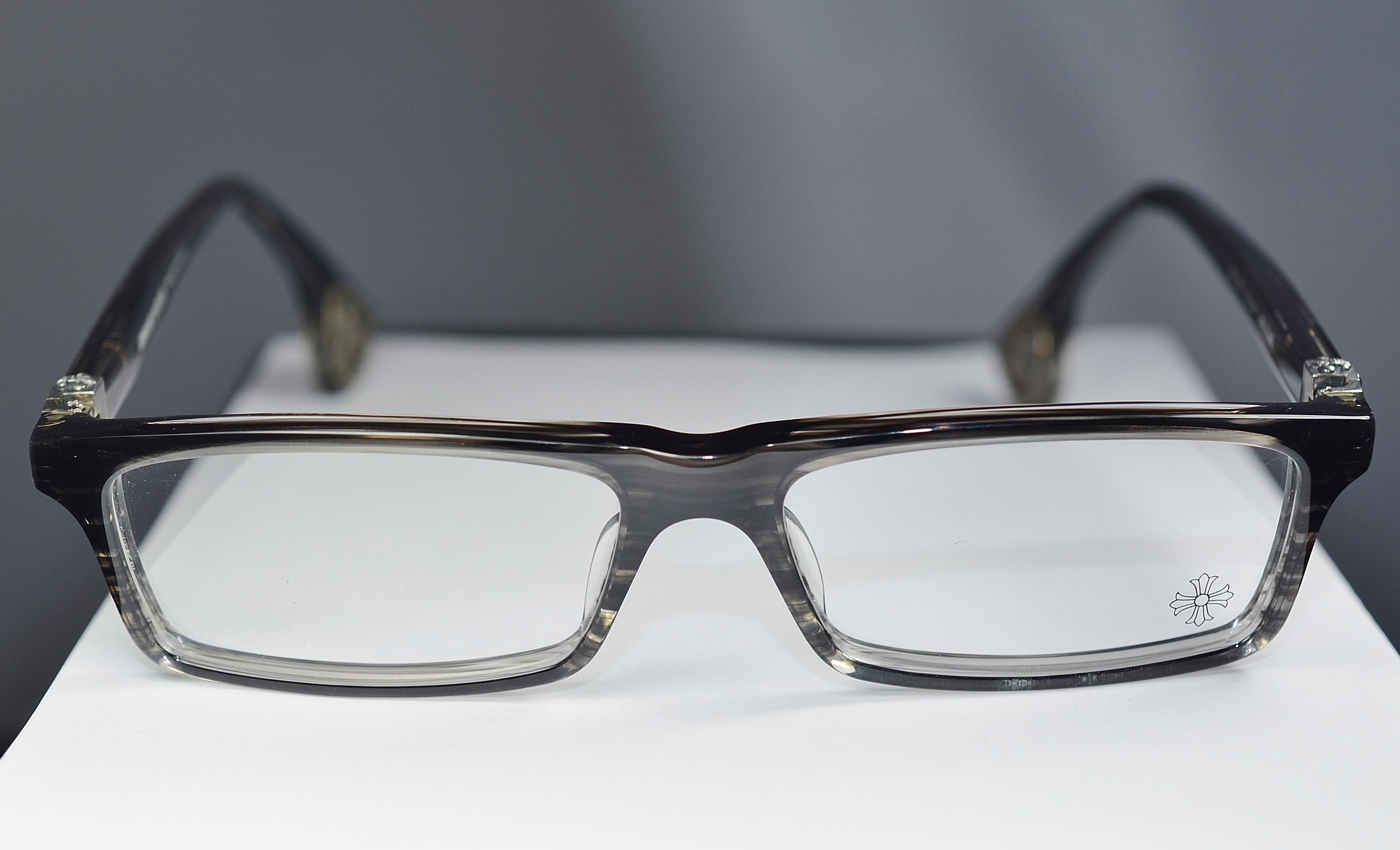 0acfc0333457 Chrome Hearts JABLOME BKS Black Stripe Glasses Eyewear Eyeglass Frame Made  In Japan