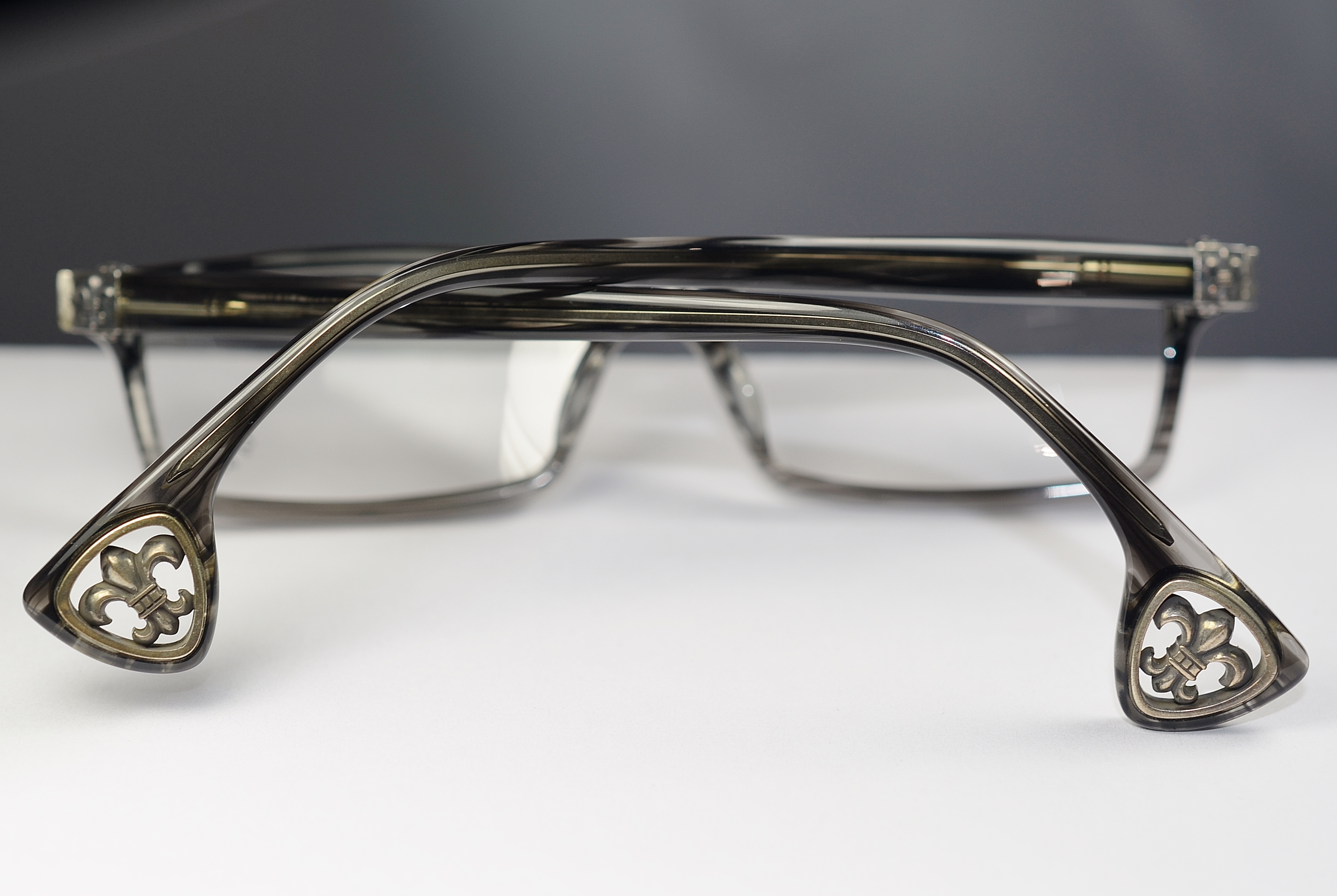 Chrome Hearts JABLOME BKS Black Stripe Glasses Eyewear Eyeglass ...
