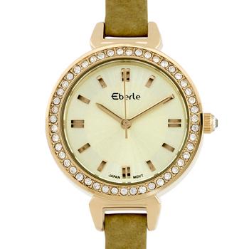 Classic Crystal Studded Bezel Ladies Watch