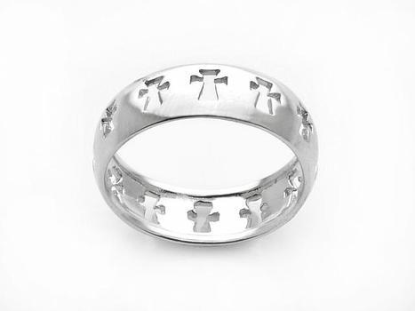 Sterling Silver Open Cross Ring- Size 11