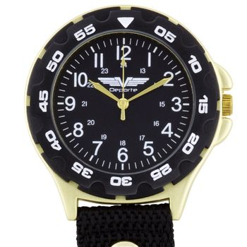 Deporte Clip On Watch - Gold